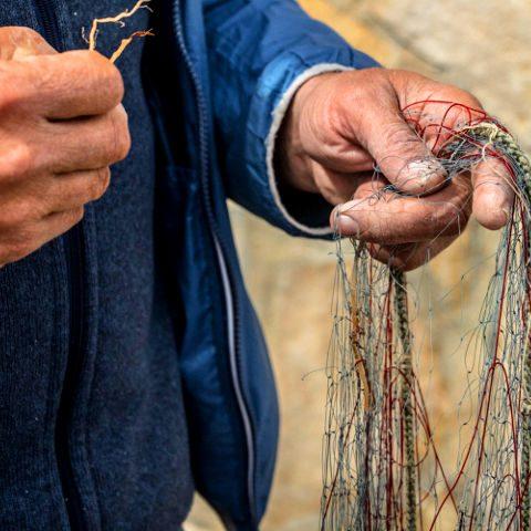 Pescatore a lavoro